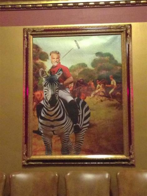 The Most Interesting Man in the World on ... Zebra-Back!